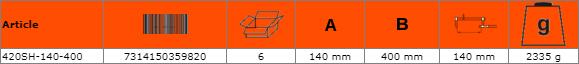 Дърводелска стяга - винтова 400mm BAHCO 420SH-140-400