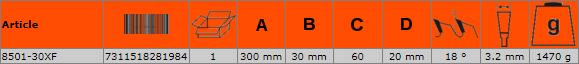 Циркулярен диск за дърво 300mm BAHCO 8501-30XF
