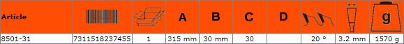 Циркулярен диск за дърво 315mm BAHCO 8501-31