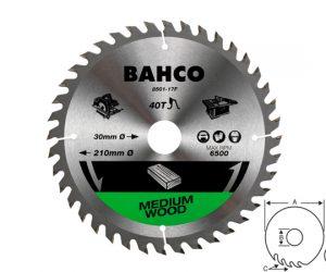 Циркулярен диск за дърво 190mm BAHCO 8501-15F