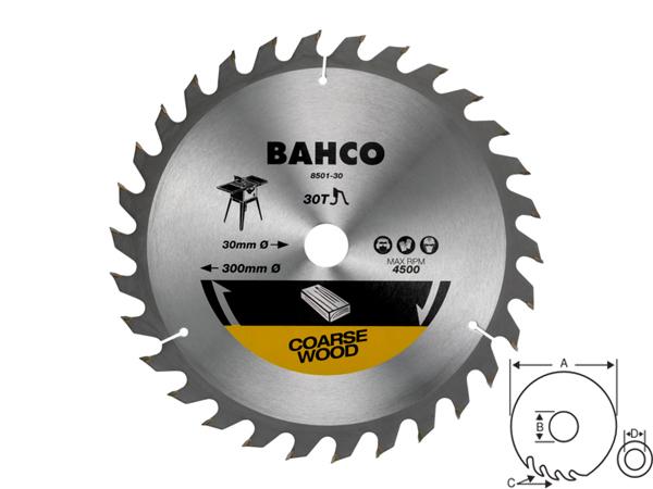 Циркулярен диск за дърво 300mm BAHCO 8501-30F
